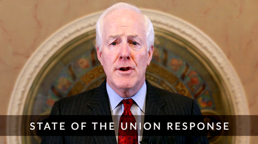Sen. Cornyn State of the Union response